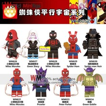 Single Sale Legoingly Gwen Stacy Ghost Spider Spider-Ham Prowler Ultimate Spider-Man Into the Spider-Verse Bricks Children Toys(China)