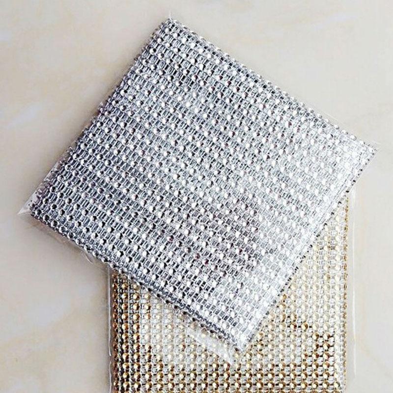 24 Reihen Kunststoff Diamant Strass Wrap Serviettenringe Schnalle ...