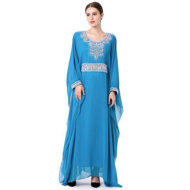 Moda burka abaya musulmán vestido largo de lujo bordado de gasa ropa de mujer plus tamaño chilaba dubai vestido de boda del partido