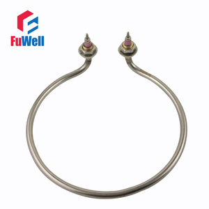 Image 1 - 304 Stainless Steel Racket Shaped Elbow Water Heating Element 220V 2KW 220mm Circle Diameter Electric Tube Heater