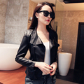 2017  leather clothing Autumn sheepskin motorcycle jacket outerwear women's European and American style Jaqueta de couro