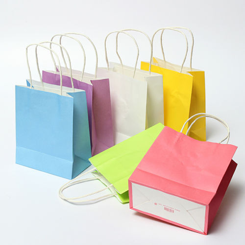 5pcs Lot Luxury Party Bags Kraft Paper Gift Bag With