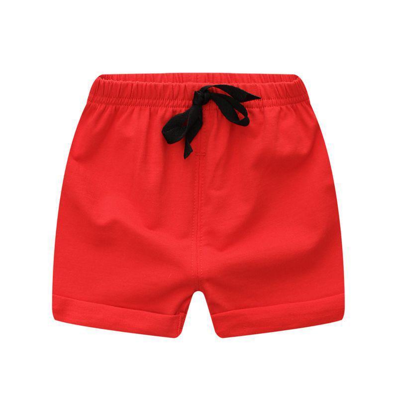 Solido Rosso Del Bambino Di Estate Del Ragazzo Pantaloni Del Bambino Di Modo Della Ragazza Di Vendita Calda Di Estate Shorts