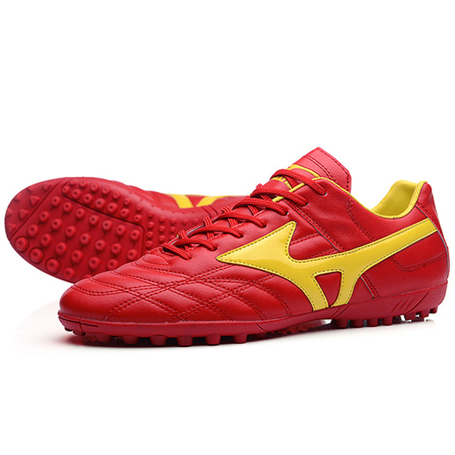 New Adults Men's Outdoor Soccer Cleats Shoes High Top TF/FG Football Boots Training Sports Sneakers Shoes Plus Size 32-44