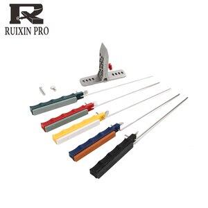 Image 2 - Afilador de cuchillos lansky, con 4 Uds. De piedra de afilar 2014 Ruixin 3nd, borde de acero, novedoso afilador de ángulo fijo