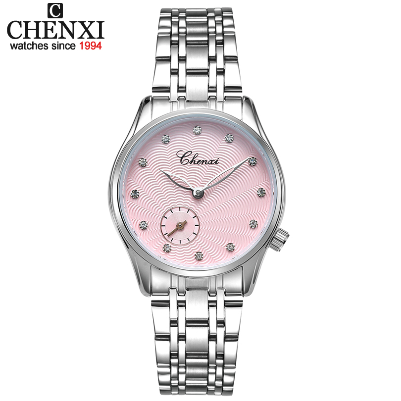 CHENXI New Fashion Elegant Leather & stainless steel Watchband Women Quartz Watches Female Watch Women Lucky Wrist watches Lady matisse fashion austria crystal ultral thin leather watchband office fashion women girl buiness lady quartz wrist watch