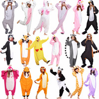 Animal Onesie Adult Kid Pajamas Unicorn Lion Bear Bat Panda Koala Monkey Dog Pig Goat Eagle Cosplay Costumes Pyjamas Teens Women