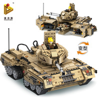 בלוקים צעצוע של ילדי כיף בקנה אחד עם לבני Legoes, גדול טנק הלחימה יחידות, וילדים חינוכי צעצוע של לוקי
