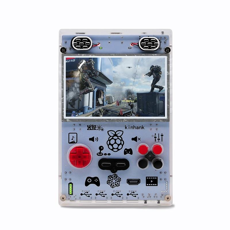 Bricolage 5.0 pouces HD IPS écran lecteur de jeu portable avec Raspberry pi Module informatique 3 Lite Console de jeu intégré plus de 15000 jeux