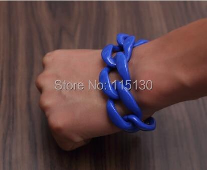 Fishsheep New Fashion Acrylic Chain Link Bracelet For Women Men Bohemian Colorful Cuff Wristband Bracelets & Bangles Jewelry 8