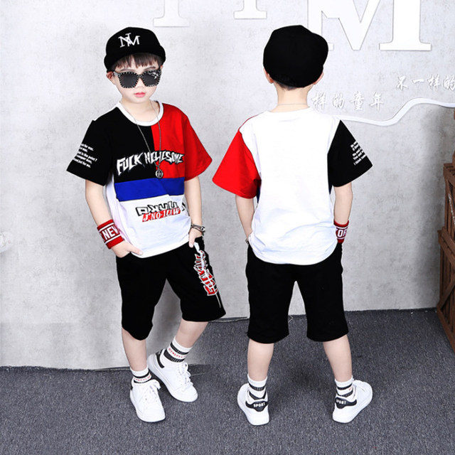 Boys Outfit Set Summer Children Clothing Suit T Shirt & Pants Short Sleeve Print Casual 4 5 6 7 8 9 10 11 Years Kids Boy Clothes