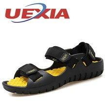 2017, новая мода высокое качество плетеный ремень сандалии уличные Повседневные Дышащие тапочки для мужская пляжная обувь летние sandalias Hombre