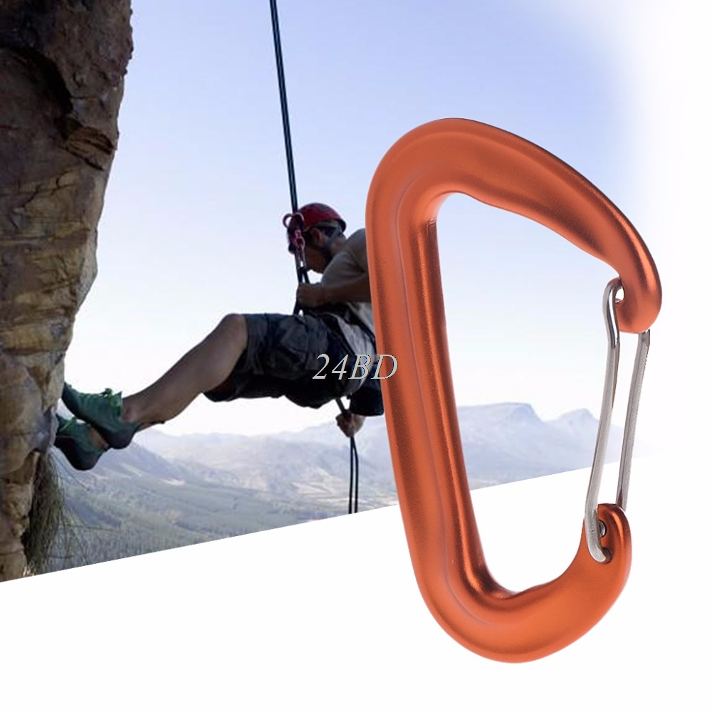 Aviation Aluminum 12KN Hammock Safety Balance Carabiner Clasp Camping Outdoor J02
