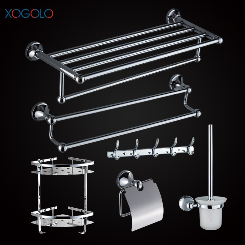 Xogolo Stainless Steel Chrome Wall Mounted Bath Hardware Sets Paper Towel Holder Rack Bathroom Shelf Accessories leyden towel bar towel ring robe hook toilet paper holder wall mounted bath hardware sets stainless steel bathroom accessories