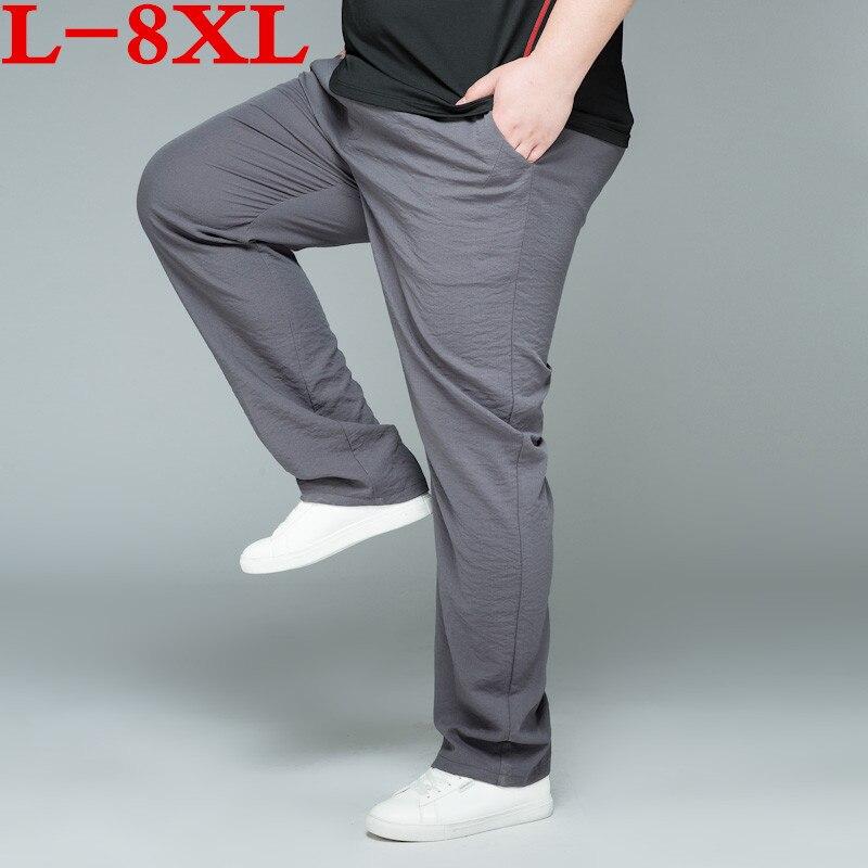2018 nouvelle grande taille 8XL 7XL 6XL 5XL 4XL haute qualité hommes pantalons Cargo décontracté hommes pantalon ensemble pour hommes pantalons longs
