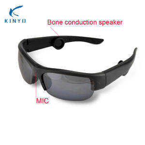 1b3721ee74e83 Bone Conduction Sunglasses Bluetooth Headphones Replaceable Lens Auto  Driving Sweat