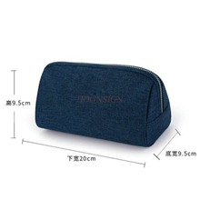 лучшая цена Simple Portable Triangle Cosmetic Bag Large Capacity Multi Function Digital Storage Fabric Female Makeup Pack Make Up Packet