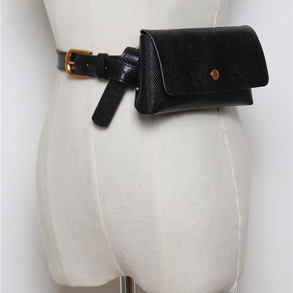 Vintage Frauen Faux Leder Serpentin Taille Tasche Tasche Geldbörse Brieftasche Fanny Pack Novel (In) Design;