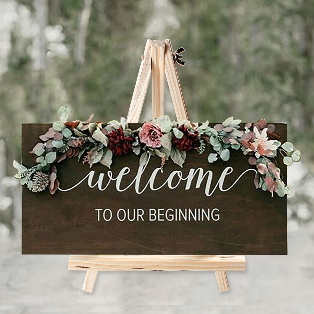 Huiran Wooden Chalkboards Display Holder Rustic Wedding Love Decor Weding Wedding Decor For Weddings Mr Mrs Wedding Table Decor