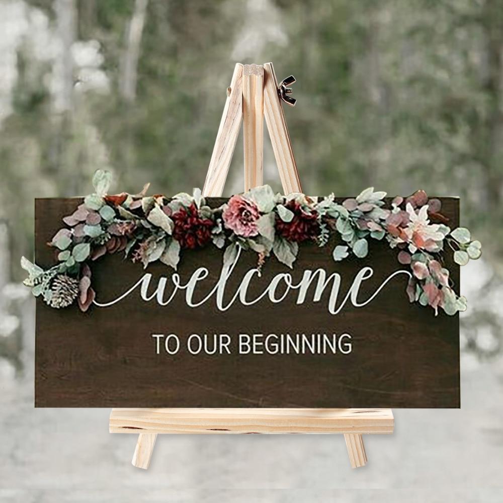 Huiran Wooden Chalkboards Display Holder Rustic Wedding Love Decor Weding Wedding Decor For Weddings Mr Mrs Wedding Table Decor