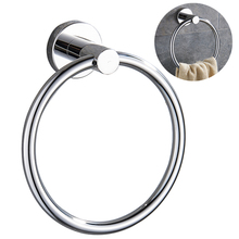 SRJ 304 Stainless Steel Towel Rings Rack Toilet Bathroom Hardware Accessories Household Storage Tool