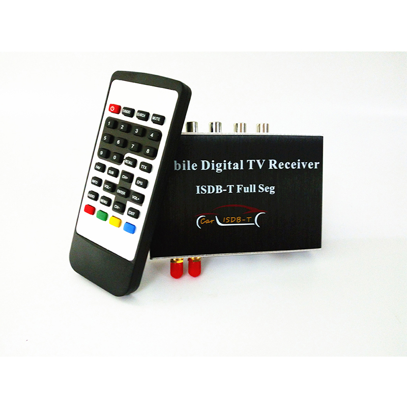 Aoluoya High Speed Car ISDB-T HD Dual Tuner FULL SEG Digital TV receiver For for South America and Philippines isudar digital tv receiver for car tv tuner isdb t 2 way video out put for japan brazil south america free shipping