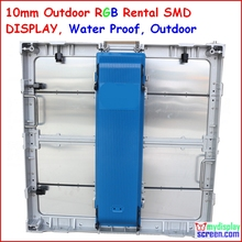 p10 Outdoor SMD Rental Die casting led display, 64cm * 64cm,ip65 water proof,wide view angle,die casting aluminum,super thin