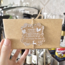 30pcs Christmas Kraft Paper hand made labels christmas gift box decor tag DIY Gift Merry Tree Ornament Decoration