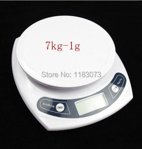 Точность 7 кг 1 г Цифровой Кухня Таблица Scale 7000 г ЖК-дисплей бытовой Кухня Еда диета весы Пособия по кулинарии инструменты