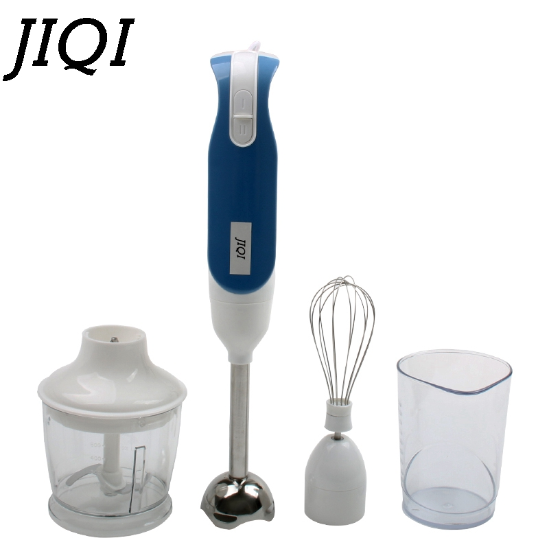 JIQI Electric Handheld Food Blender Mixer Multifunction Meat Grinder Fruit Vegtable Juicer Egg Beater Chopper Whisk Cream Stick