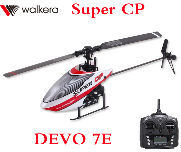 Original Walkera Super CP with DEVO 7E Transmitter 6CH Flybarless 3D RC Helicopter Designed for Beginner RTF original walkera devo f12e fpv 12ch rc transimitter 5 8g 32ch telemetry with lcd screen for walkera tali h500 muticopter drone