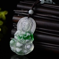 Gift giving the best pure manual sculpture double color kwan yin pendant Bead string necklace charm male style
