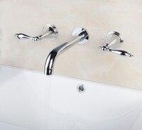 45H Construction Real Estate Wall Mounted Two Handles 3 Pcs Set Bath Fixtures Bath Hardware Sets