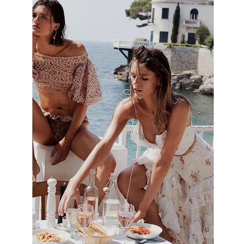 2019 женское сексуальное летнее платье на бретельках с цветочным принтом, Многоуровневое Хлопковое платье миди, длинное богемное пляжное пла