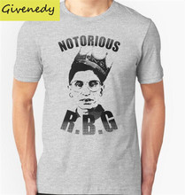 Free shipping Notorious RBG Printed Men's T-Shirt T Shirt For Men 2016 New Short Sleeve O Neck Cotton Casual Top Tee