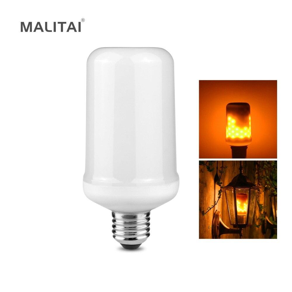 Flammeneffekt LED lampe Dynamische Feuer/Flackerndes licht E27 110 V-220 V Für Neue Jahr weihnachten Urlaub Dekoration lampen