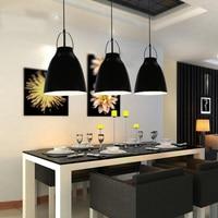 Modern suspension luminaire Aluminum Bell Lampshade Pendant Lamps for Dining Room Bar Nordic Loft kitchen Pendant Lights