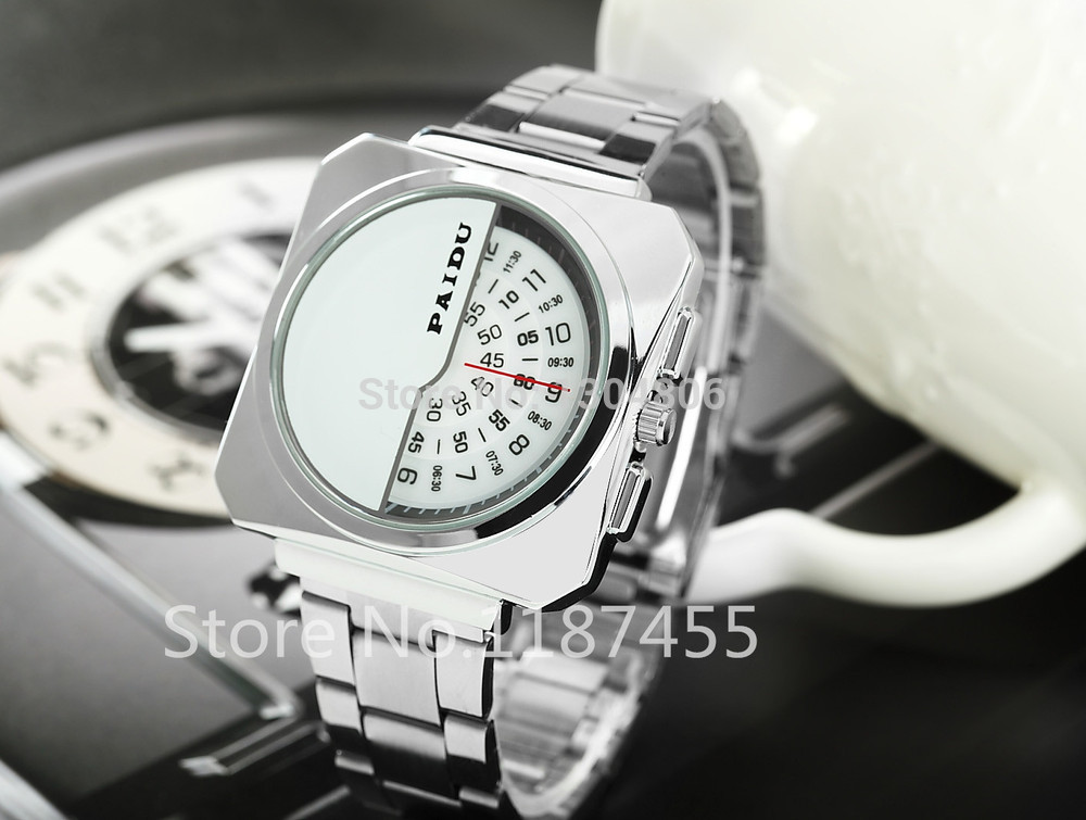 special square face watches men luxury Huge Big Dial men
