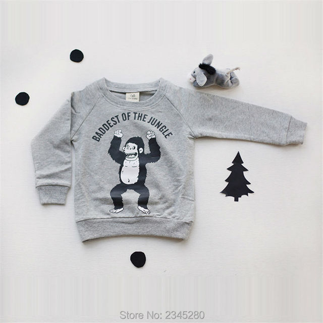 Shirt For Boy Baby T-Shirts For Girls Sweater Shirt With Long Sleeves For The Boy For Children Animal Print Shirt Top Girl Next