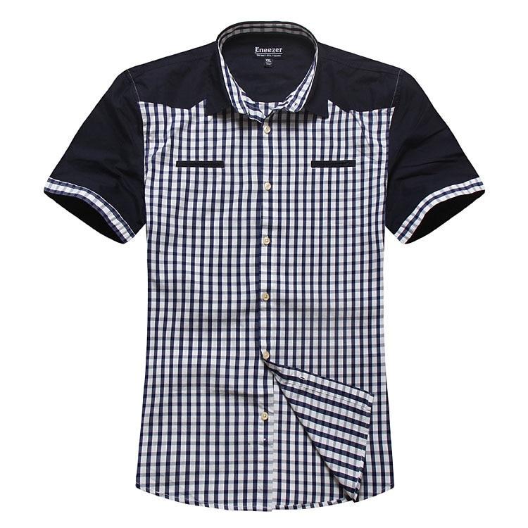 XXXL 4xl 5xl 6xl 7xl 8xl men shirt shirts mens dress brand clothes slim fit denim men's clothing BLUE - Online Store 226431 store