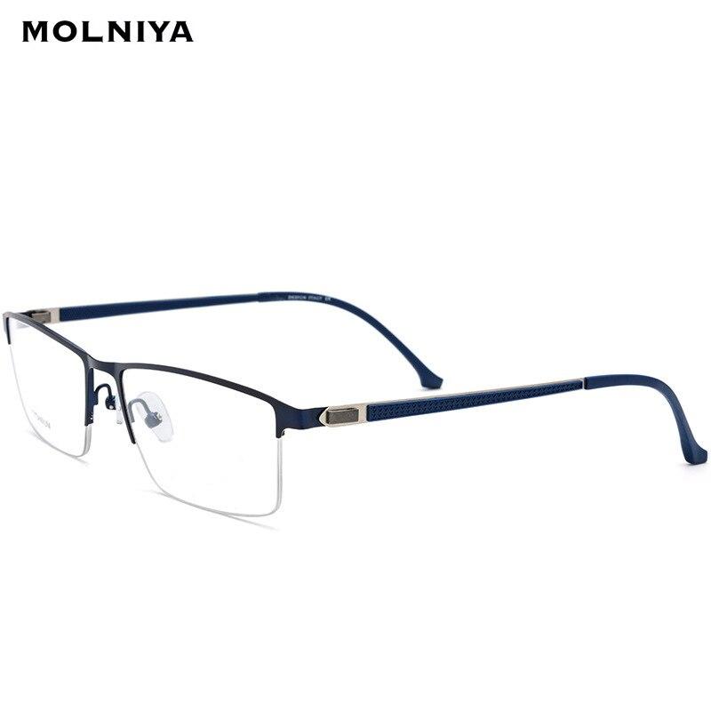 Male Square Titanium Alloy Glasses Frame Men 2019 New Light Prescription Eyeglasses Half Myopia Optical Frames Screwless Eyewear in Men 39 s Eyewear Frames from Apparel Accessories