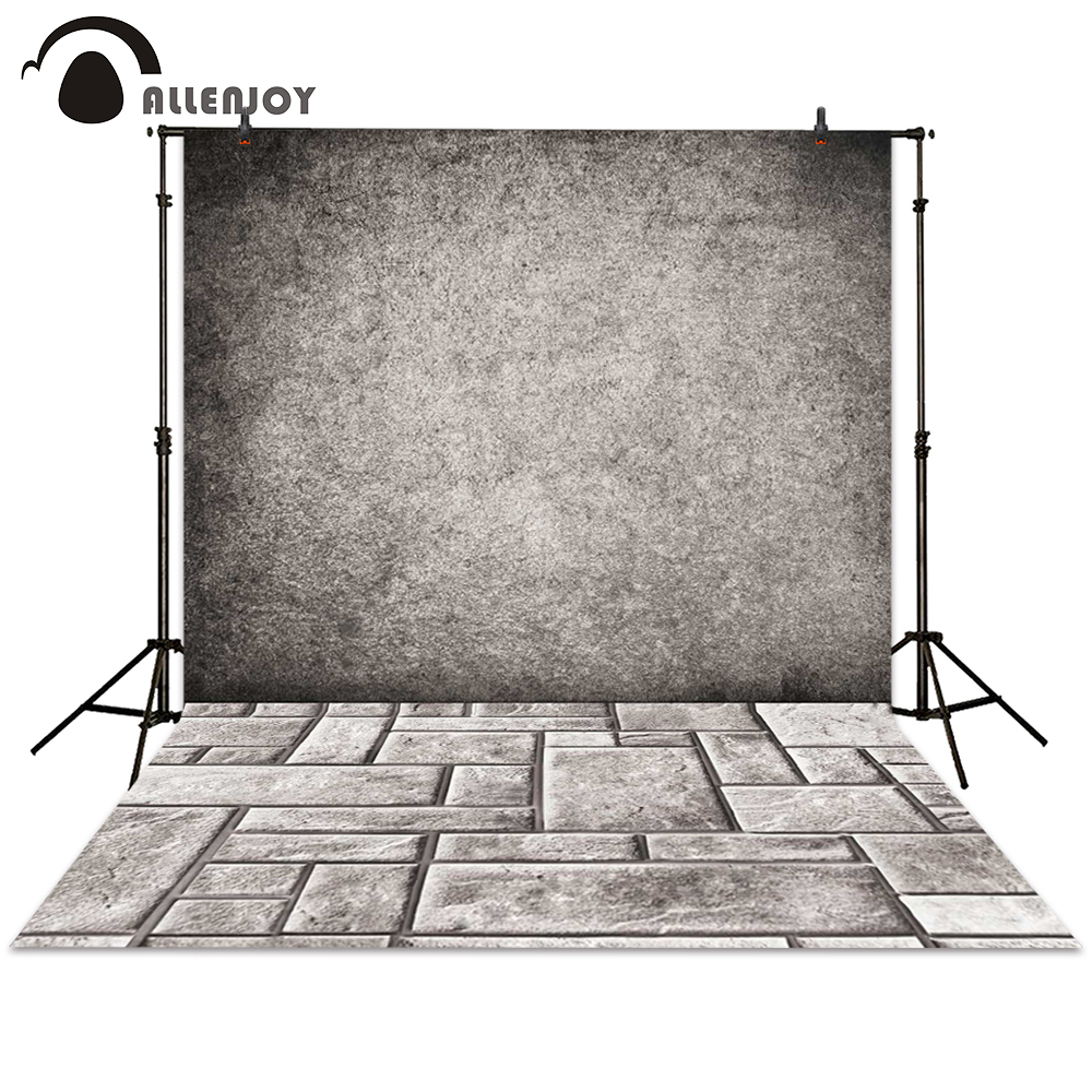 Allenjoy background photography wall ground brick grey Stone floor backdrops photocall photographic photo studio shengyongbao 300cm 200cm vinyl custom photography backdrops brick wall theme photo studio props photography background brw 12
