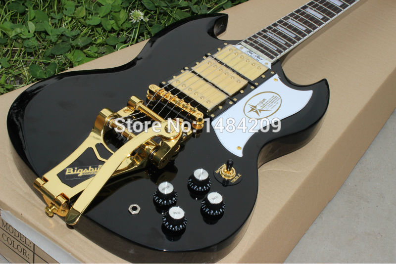 G ModelSG JAZZ  Electric Guitar  finished with bigsby Cheap High quality SG china guitars .Free shipping new arrival sg electric guitars chrome bigsby chinese guitarra electrica free shipping