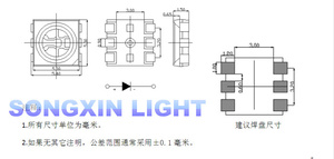 Image 3 - 2000 قطعة 5050 RGB مصلحة الارصاد الجوية/SMT LED 5050 أحمر أخضر أزرق PLCC 6 3 رقائق السوبر مشرق ضوء المصباح SMD عالي الجودة LED ملون RGB