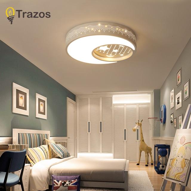 TRAZOS Black Round Ceiling Lights for Living room Bedroom Kids ...