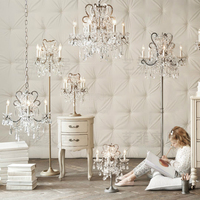 French style palace crystal study desk light bedroom table lamps Princess Room bedside decoration luxury table light ZA920436