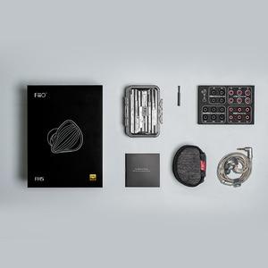 Image 5 - Original FiiO FH5 hifi earphone Metal Case Knowles Detachable Cable MMCX Design Quad Driver Hybrid Earphone 3.5mm plug