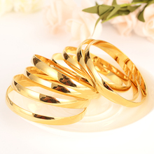 4pcs Gold Dubai india Africa Bangle for Women men girl Bracelet Jewelry Accessories party Gifts bangle bracelet wedding bridal jhplated one piece womens wedding bridal bangle bracelet dubai bangle jewelry africa arab gold color