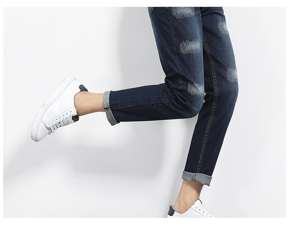 17 New arrival Jeans women Ripped loose style Bleached mid waist low elastic Plus size jeans 40-1KG Available 8