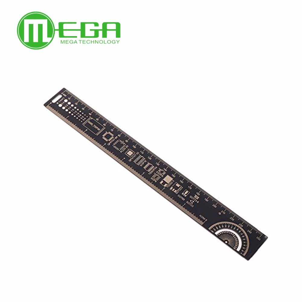 25cm 10 inch pcb ruler for electronic engineers measuring tool pcb reference ruler chip ic smd